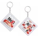 chaveiros personalizados com logo Santa Isabel