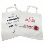 onde encontro venda de sacolas em algodão personalizada Jardim Guanabara