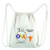 procuro comprar mochila saco personalizada em grande quantidade Cachoeirinha